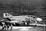 F-4B of VF-11 on cat of USS Forrestal (CVA-59) 1971.jpg