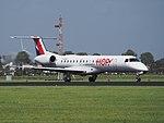 F-GRGC HOP! Embraer ERJ-145EP landing at Schiphol (EHAM-AMS) runway 18R pic1.JPG