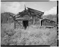 FRONT, LOOKING WEST - Charlie Yale Main Cabin, Glacier River near Nolan, Bettles, Yukon-Koyukuk Census Area, AK HABS AK,23-BET.V,4-A-1.tif