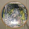 Faenza, piatto con dormitio virginis, da un'incizione di schongauer, 1510 ca.JPG