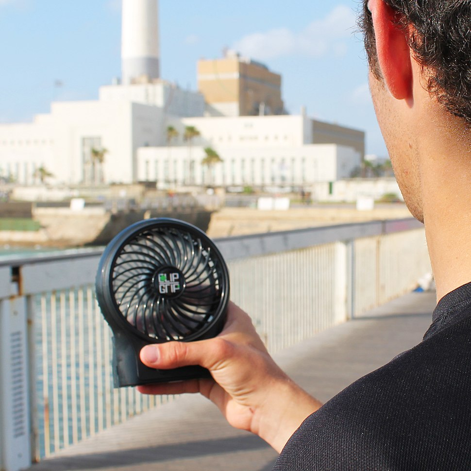Using a personal cooling device in summer