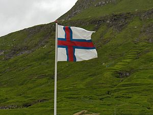 Flag of the Faroe Islands - Merkið at Funningur, Eysturoy