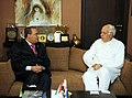 Farooq Abdullah with the Secretary of StateExecutive Vice President of the National Council for Climate Change and Clean Development Mechanism of the Dominican Republic, Mr. Oman Ramirez Tejada, at a bilateral meeting.jpg