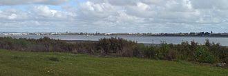 Mangere Inlet - A look over the inlet to the south, near the western end.