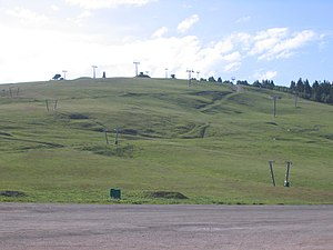 Feldberg (Black Forest) - Ski lifts and the Bismarck Tower on the Seebuck