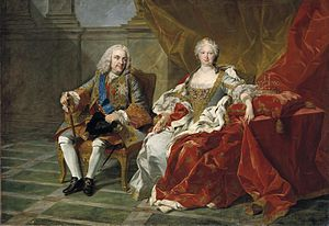 Elisabeth Farnese - Philip V and Elisabeth in 1739