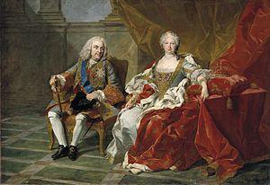Elisabeth Farnese - Philip V and Elisabeth in 1739