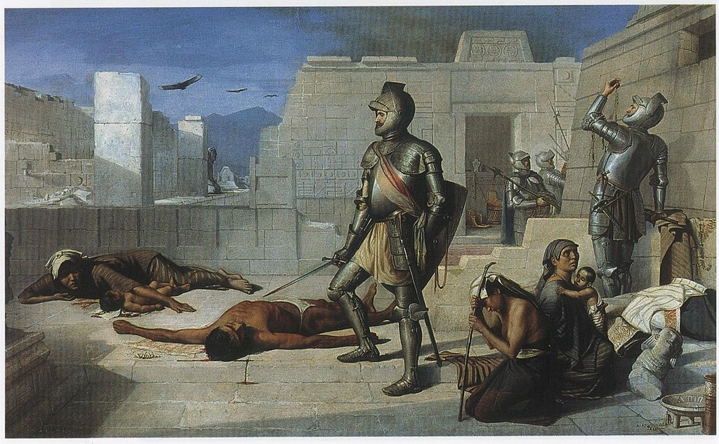Felix Parra Episodios de la conquista La matanza de Cholula