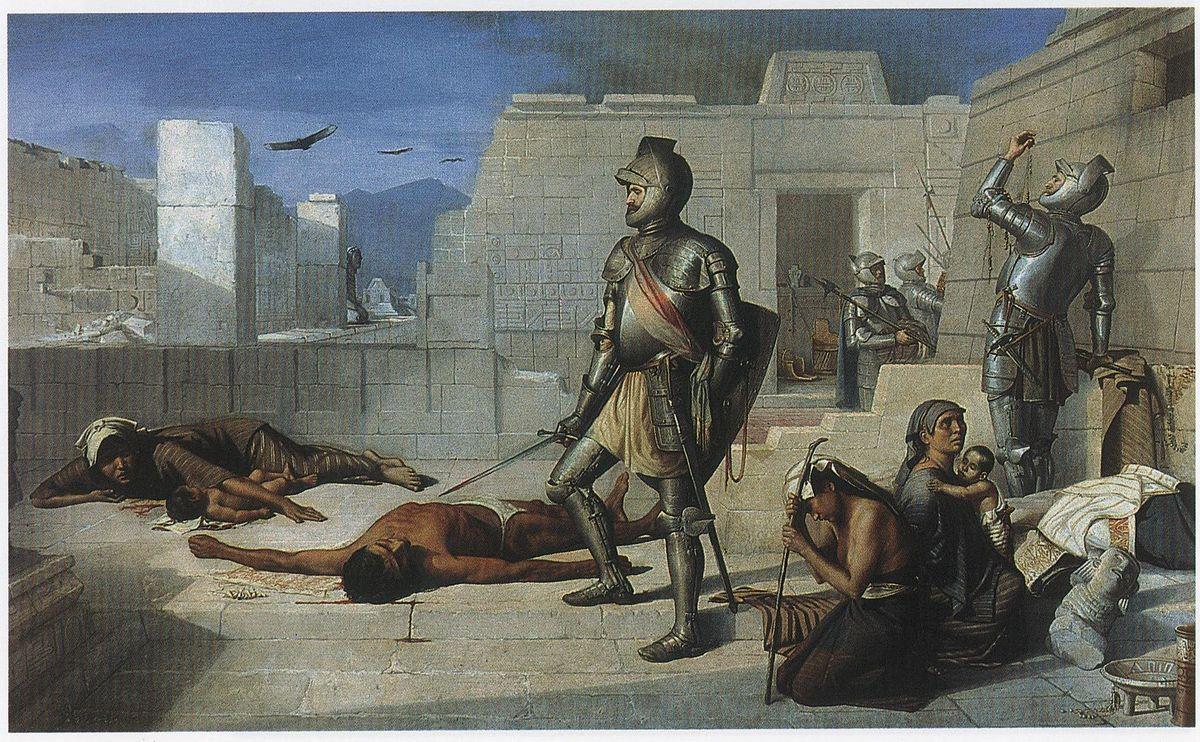 Felix Parra Episodios de la conquista La matanza de Cholula.jpg