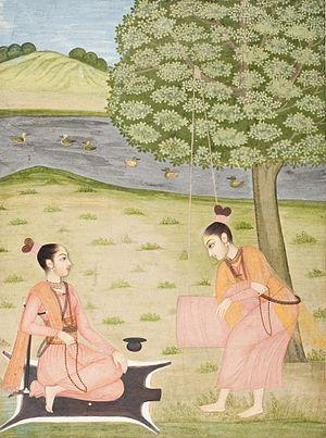 Hatha yoga - 18th century female yogis in Rajasthan.