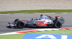 2007 Italian Grand Prix - The race was won by Fernando Alonso for McLaren.