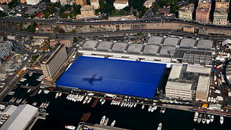 Genoa International Boat Show - aerial view of Pavilion B