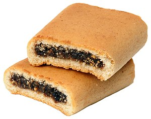 English: Two Nabisco-brand Fig Newtons stacked...