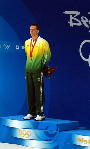 2008 FINA Swimming World Cup - César Cielo Filho, winner of the men's 50 m and 100 m freestyle at the first leg of the 2008 World Cup in Belo Horizonte.