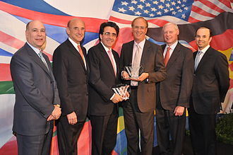 Laurence D. Fink - Fink, third from right, receiving a Woodrow Wilson Award in April 2010