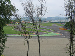 Fiorano Circuit - Turn 12 of the Fiorano Circuit as seen from the roadside.