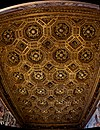 Firenze - Florence - Palazzo Vecchio - 2nd Floor - Sala dell' Udienza - ICE Photocompilation Viewing on gold laminated carved coffer ceiling 1476.jpg