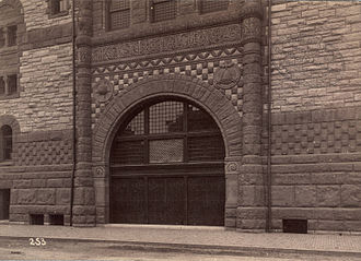 Hartwell and Richardson - Entrance to First Spiritual Temple (1885), Boston, Massachusetts.