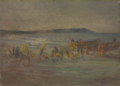 Fishing Boats Pulling in to Shore by Kuroda Seiki (Kuroda Kinenkan).tiff