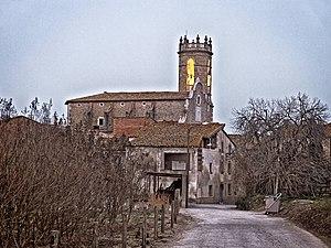 Flaçà - Flaçà old town with St. Cebrià church