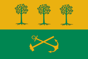 South-Eastern Administrative Okrug - Image: Flag of South East district in Moscow