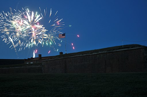 Flickr - Official U.S. Navy Imagery - Fireworks explode over Fort McHenry.