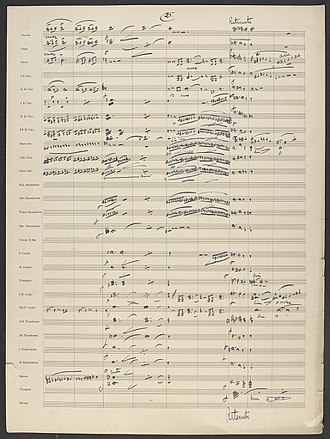 "Arrangement - John Philip Sousa's manuscript arrangement of Richard Wagner's ""The Flying Dutchman Overture (page 25 of 37)."