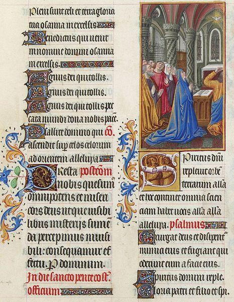 Les Très Riches Heures du duc de Berry, Folio 186r - Pentecost the Musée Condé, Chantilly.