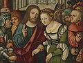 Follower of Lucas Cranach (II) - Jesus Christ and the woman taken in adultery.jpg