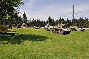 Lewis Army Museum - Image: Fort Lewis Military Museum tanks in yard 01