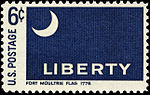 Fort Moultrie Flag - Historic Flag Series - 6c 1968 issue U.S. stamp.jpg