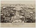 Fotoreproductie van prent met ene panorama van Versailles Panorama de Versailles Vue prise à Vol d'Oiseau sur le Palais, le Parc et la Ville' (titel op object), RP-F-F16410.jpg