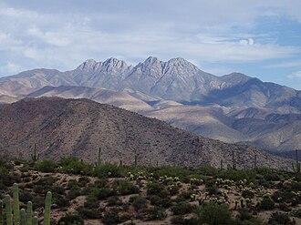 Mazatzal Mountains - The Four Peaks in the Mazatzal Mountains