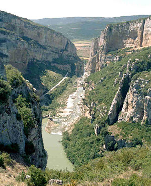 Irati (river) - the gorges of la Foz de Lumbier