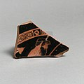 Fragment of a terracotta kylix (drinking cup) MET DP21790.jpg