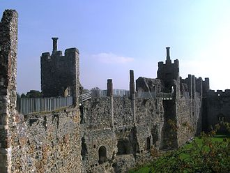 Framlingham Castle - The Inner Court, showing the open backed mural towers