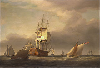 A Seascape with Men-of-War and Small Craft