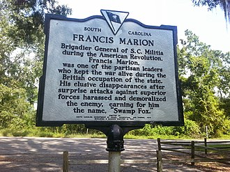 Francis Marion - Image: Francis Marion Historic Marker 2