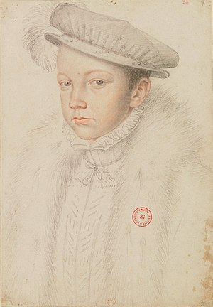 Francis II of France - Portrait by François Clouet