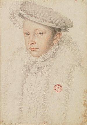 Francis II of France - Portrait by François Clouet