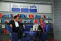 Frankfurter Buchmesse 2011 - Das Blaue Sofa - Abdel-Samad und Sagenschneider.JPG