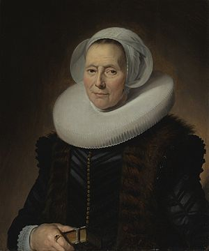 Maritge Claesdr. Voogt - Portrait of Maritge Claesdr. Vooght, 1639, Oil on canvas, 128 x 94.5 cm