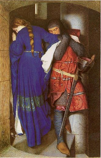 Frederick William Burton - The Meeting on Turret Stairs, 1864