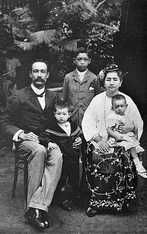 Anglo-Burmese people - A prominent Anglo-Burmese family, circa 1900.