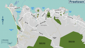 Freetown overview map