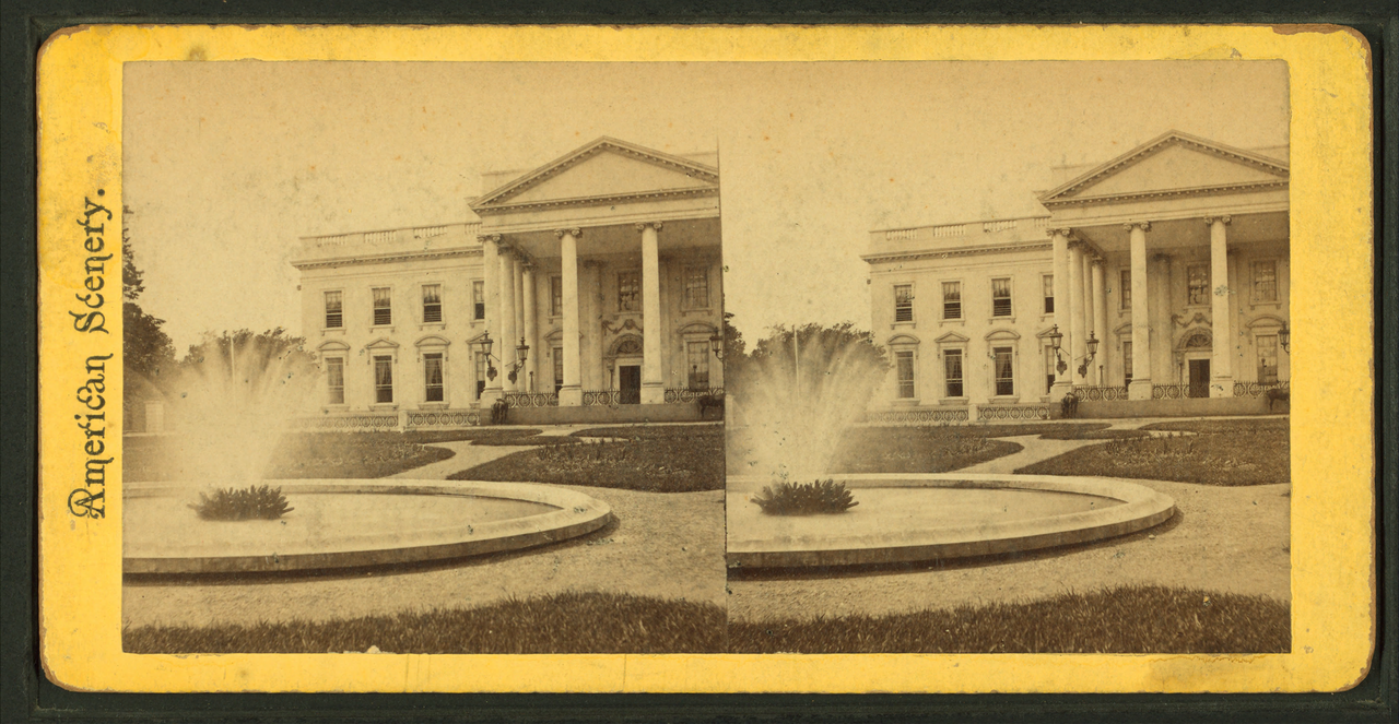 File:Front view of White House, from Robert N. Dennis ...