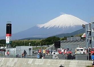 Fuji Speedway - Mount Fuji
