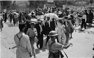 1929 Safed riots - Funeral for murdered Jews of Safed, 1929