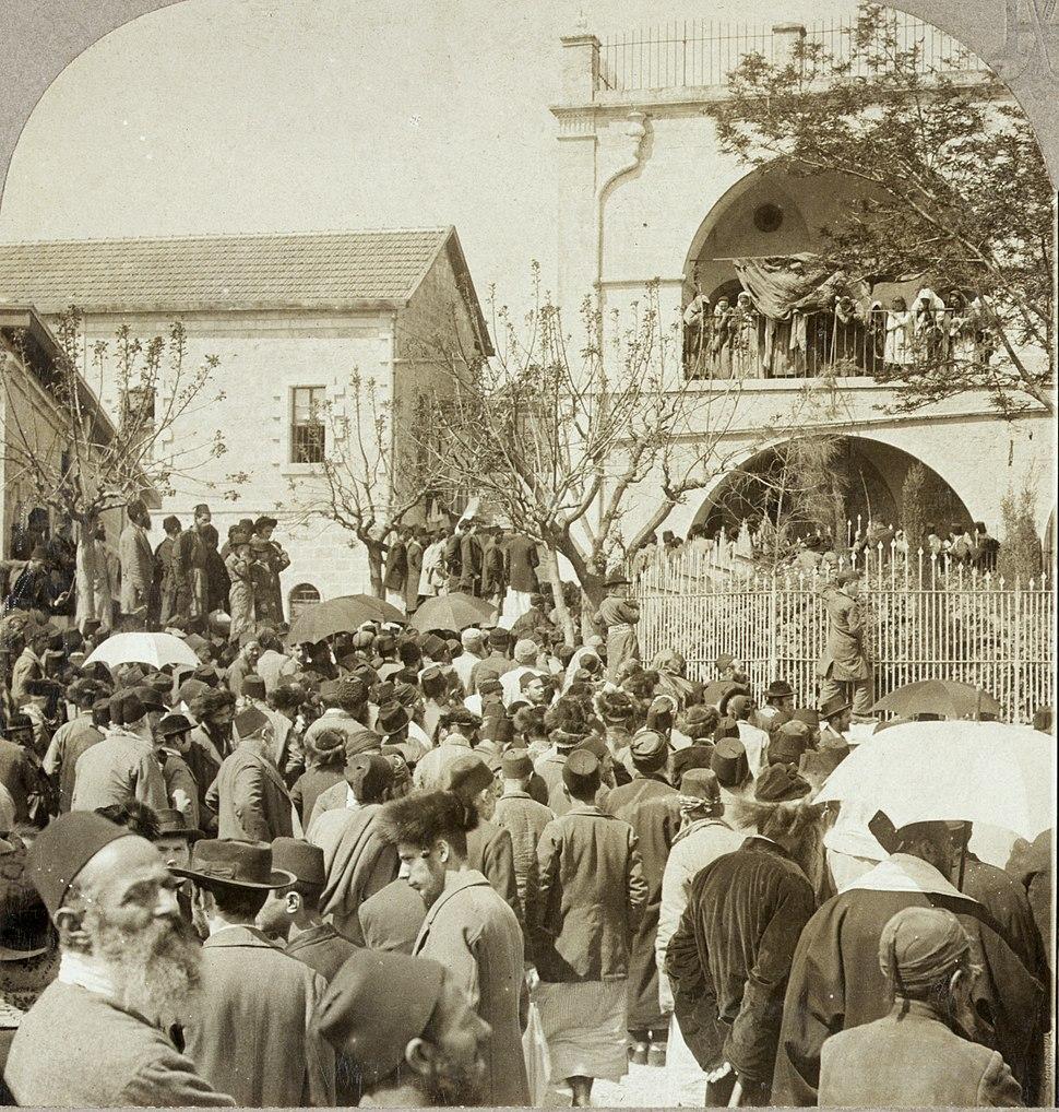 Funeral of Jerusalem rabbi, 1903