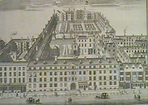 Furnival's Inn - Early-18th-century engraving of Furnival's Inn by Sutton Nicholls